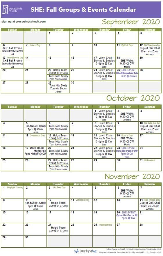 New SHE Calendar